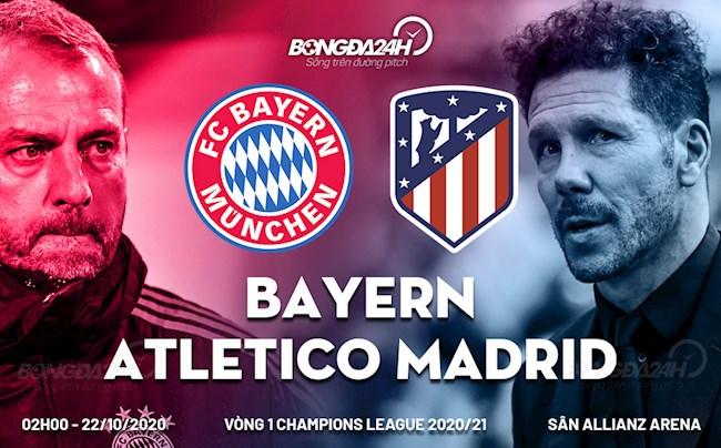 Truc tiep bong da Bayern Munich vs Atletico Madrid C1/Champions League 2020/21 luc 2h00 ngay 22/10