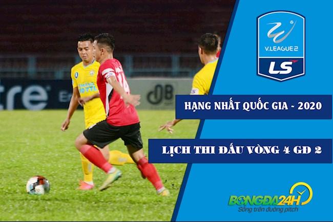 Lịch thi đấu bóng đá Việt Nam Hạng nhất Quốc gia 2020 vòng 4 GĐ 2 hình ảnh
