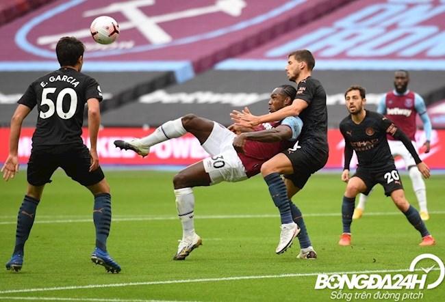 Antonio dung suc manh de bep Dias de ghi ban cho West Ham
