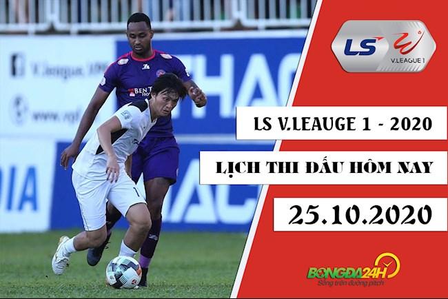 Lịch thi đấu bóng đá Việt Nam hôm nay 2510 VLeague 2020 hình ảnh