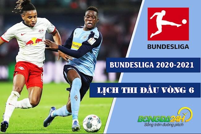 Lịch thi đấu Bundesliga mới nhất vòng 6 bóng đá Đức 202021 hình ảnh