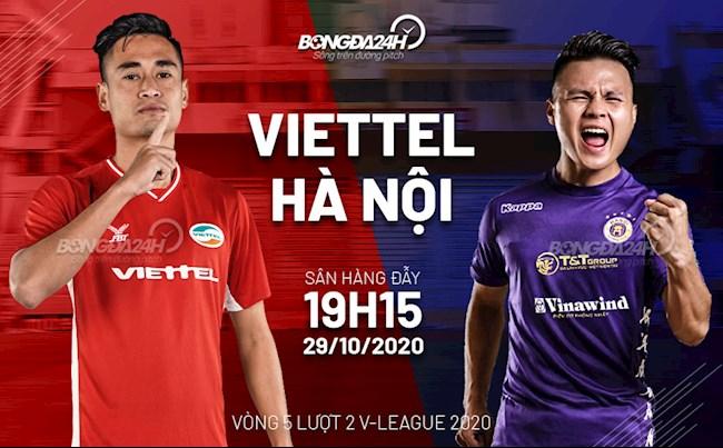 Truc tiep bong da Viettel vs Ha Noi luot 5 nhom A V-League 2020 luc 19h15 ngay hom nay 29/10