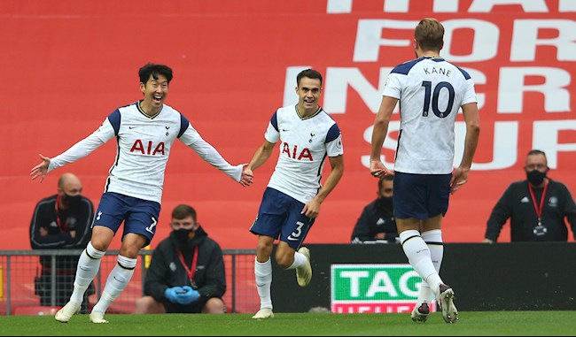 Harry Kane vs Son Heung Min phoi hop tao ra ban thu 2 cho Tottenham