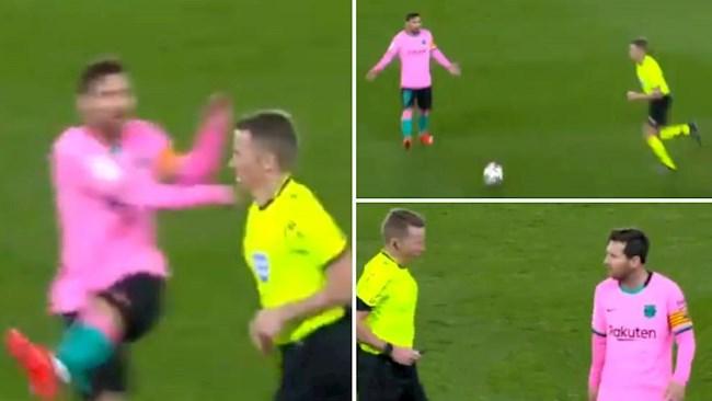 Lionel Messi lẽ ra phải bị đuổi khỏi sân vì vô lễ trọng tài! hình ảnh