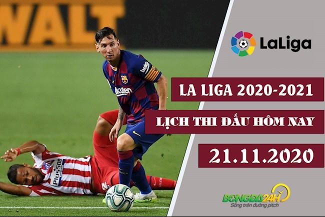 Lịch thi đấu La Liga 2020 hôm nay 2111  Atletico vs Barca hình ảnh
