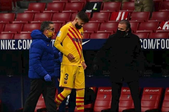 Pique dính chấn thương sau trận thua của Barca hình ảnh