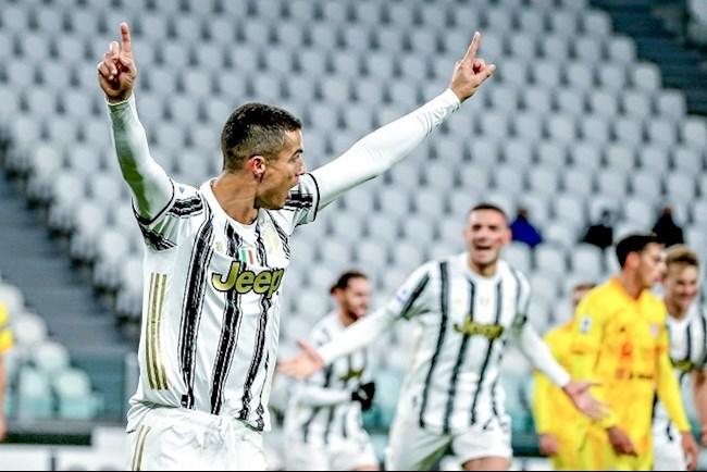 Tiền đạo Cristiano Ronaldo cán mốc 60 bàn sớm nhất lịch sử Juve hình ảnh