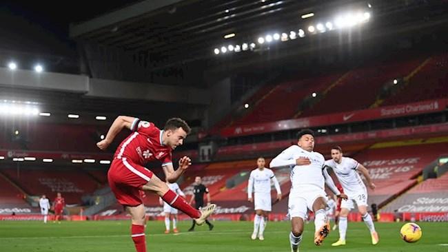 Tiền đạo Diogo Jota đi vào lịch sử Liverpool hình ảnh