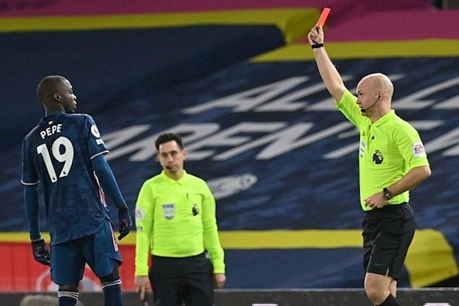 CĐV Arsenal nổi điên với thẻ đỏ của tiền đạo Nicolas Pepe hình ảnh