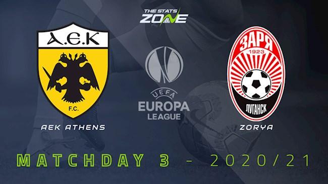 AEK Athens vs Zorya