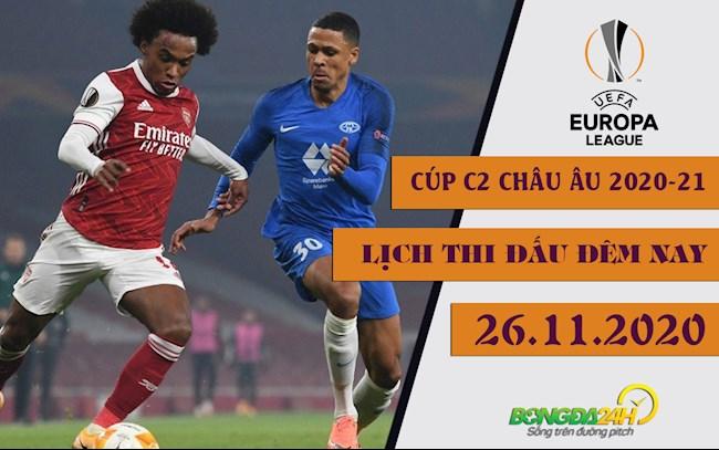 Lịch thi đấu Cúp C2 hôm nay 2611 K+ trực tiếp Europa League hình ảnh