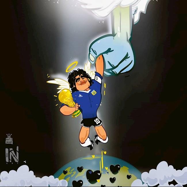 Biếm họa Vĩnh biệt Diego Maradona! hình ảnh