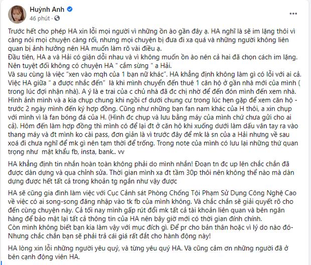 Sau nghi án cắm sừng Quang Hải, bạn gái Huỳnh Anh nói gì hình ảnh 2