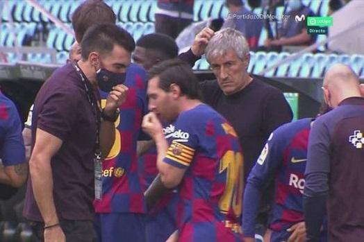 HLV Quique Setien tung duoi thang co Messi