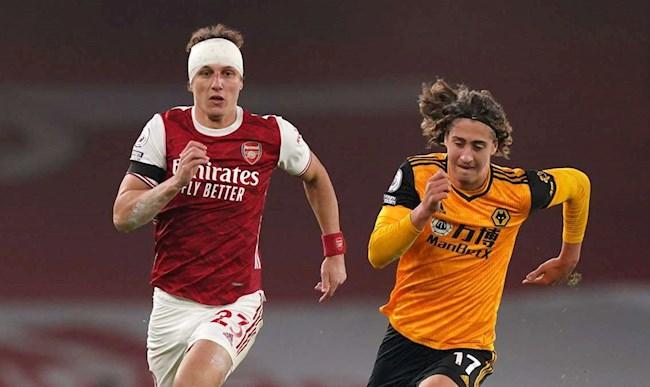 Arsenal thua Wolves Luiz