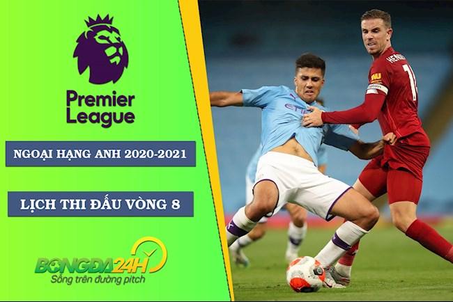 Lịch thi đấu Ngoại hạng Anh mới nhất vòng 8 Premier League 2020 hình ảnh