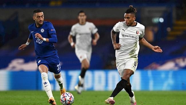 Hậu vệ Rennes Dalbert Henrique dâng 2 quả pen cho Chelsea hình ảnh
