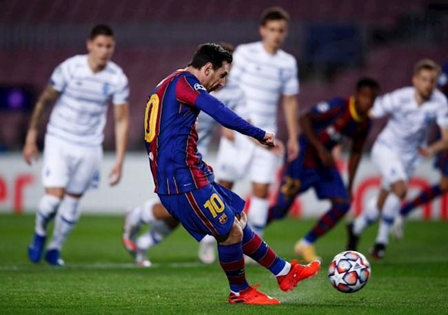 Messi lan thu 4 trong mua giai ghi ban tren cham 11m