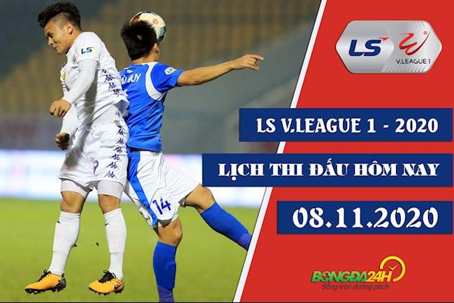 Lịch thi đấu VLeague hôm nay 8112020 LTD bóng đá Việt Nam hình ảnh