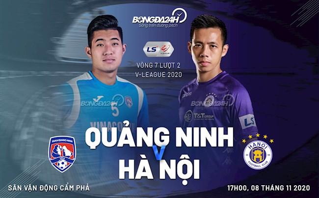 Truc tiep bong da Quang Ninh vs Ha Noi luot 7 nhom A V-League 2020 luc 17h00 ngay hom nay 8/11