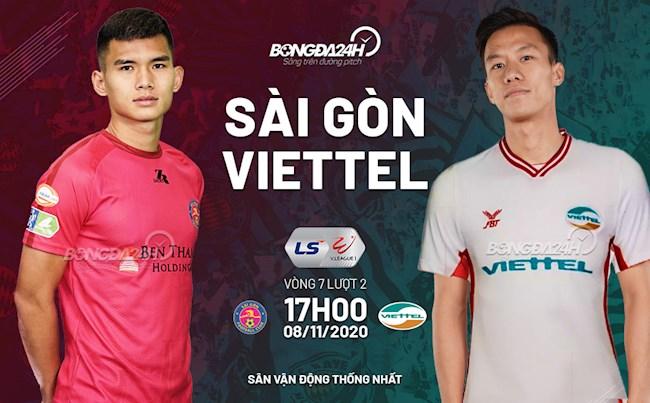 Truc tiep bong da Sai Gon vs Viettel luot 7 nhom A V-League 2020 luc 17h00 ngay hom nay 8/11