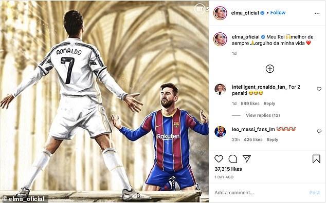 Chị gái Ronaldo có hành động sỉ nhục Messi hình ảnh