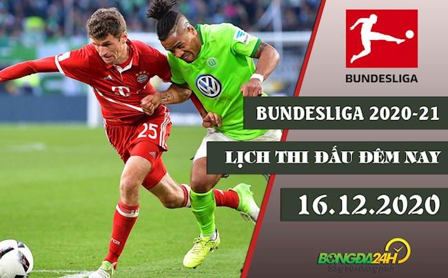 Lịch thi đấu bóng đá Đức mới nhất ngày 1612 Bundesliga 2020 hình ảnh