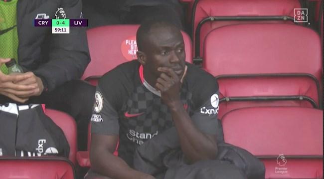 Mane hờn dỗi vì bị thay người trong trận gặp Crystal Palace hình ảnh