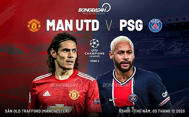 Trực tiếp bóng đá MU vs PSG 3h00 ngày 3/12