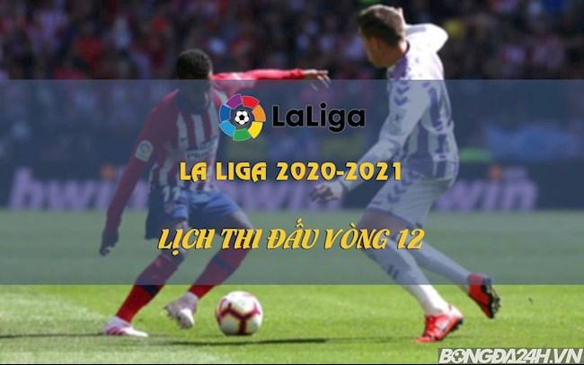 Lịch thi đấu bóng đá TBN mới nhất vòng 12 La Liga 20202021 hình ảnh