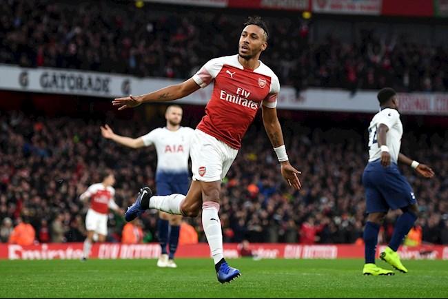 Tiền đạo Aubameyang nhận định trận Tottenham vs Arsenal hình ảnh