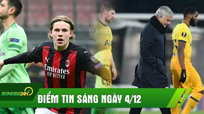 ĐIỂM TIN SÁNG 4/12: Haaland 2.0 ghi bàn, Milan thắng ngược dòng; Tottenham hòa bạc nhược