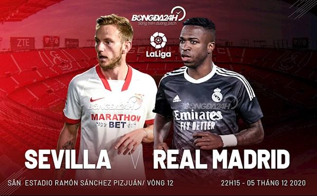 Truc tiep bong da Sevilla vs Real Madrid vong 12 La Liga 2020/21 luc 22h15 ngay hom nay 5/12