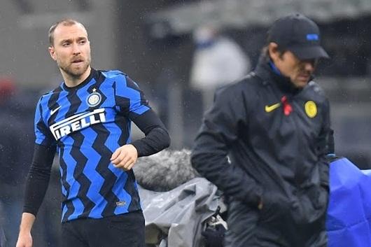 Tiền vệ Christian Eriksen không ăn mừng sau chiến thắng của Inter hình ảnh