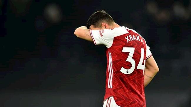 Xhaka nhận chỉ trích ở bàn thua thứ 2 của Arsenal trước Spurs hình ảnh