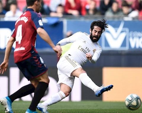 Osasuna 1-4 Real Isco ghi ban