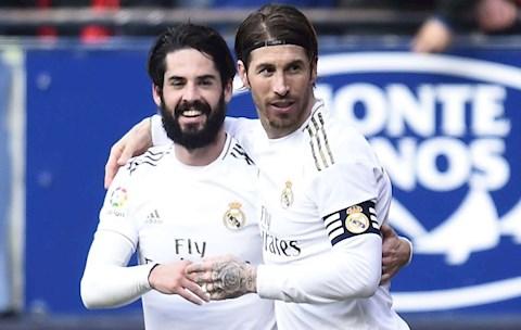Osasuna 1-4 Real Ramos va Isco