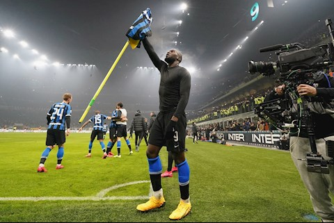 Lukaku chia sẻ trên mạng xã hội sau trận derby Milan hình ảnh