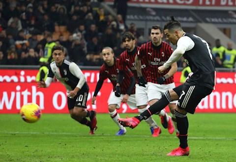 Ronaldo ghi ban tren cham penalty o phut 90 mang ve tran hoa 1-1 cho Juventus