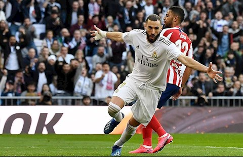 Real 1-0 Atletico Benzema ghi ban