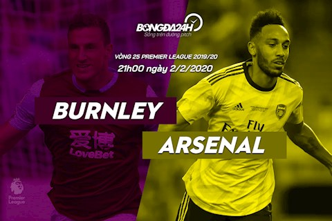 Burnley vs Arsenal vong 25 Premier League