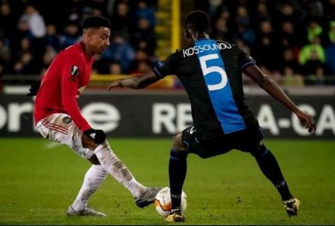 Club Brugge 1-1 MU Lingard di bong