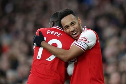 Arsenal 3-2 Everton Aubameyang va Pepe