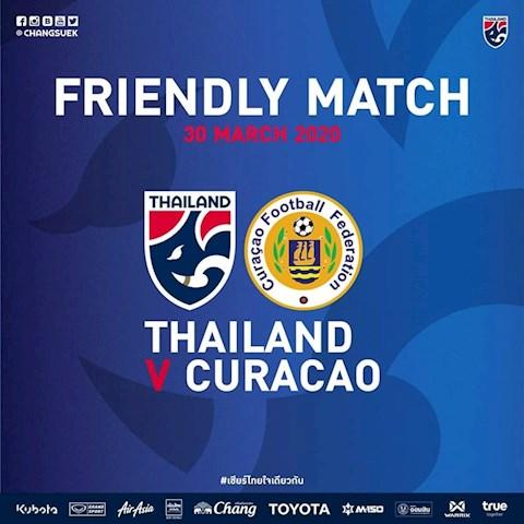 ĐT Thái Lan giao hữu với Curacao hình ảnh