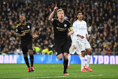 De Bruyne toa sang truoc Real Madrid
