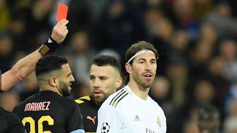 Nhận thẻ đỏ trước Man City, Ramos cân bằng kỷ lục muối mặt ở C1 hình ảnh