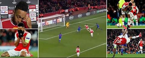 Arsenal 1-2 Olympiacos: Aubameyang bo lo tinh huong doi mat thu mon
