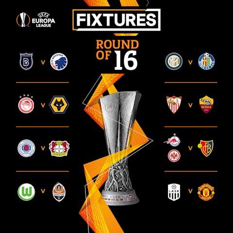 Ket qua boc tham vong 1/8 Europa League 2019/20