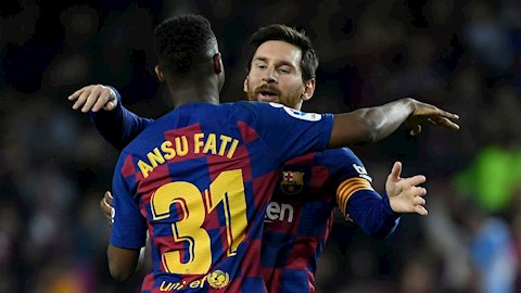 Lập cú đúp hạ Levante, Ansu Fati đi vào lịch sử La Liga hình ảnh