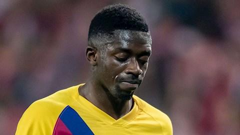 Barca nhận tin buồn Ousmane Dembele dính chấn thương hình ảnh
